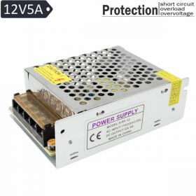 Power Supply Adopter 12V 5A for CCTV