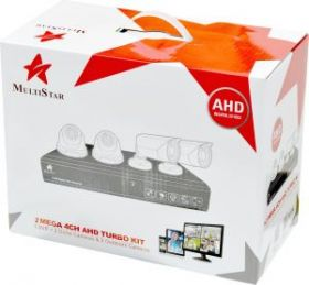 Multistar 4 Channel 2MP 1080P CCTV Kit