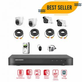 Hikvision 4CH 2MP 1080P Camera Bundle with 1TB Harddisk