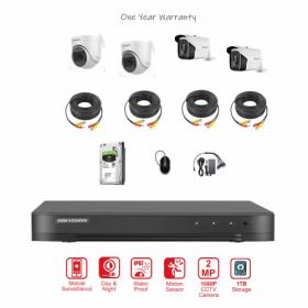 Hikvision 4CH 2MP CCTV Camera Bundle with Installation