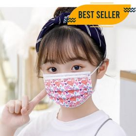 Disposable 3 Layer Kids Face Mask 50Pcs Germs Protection