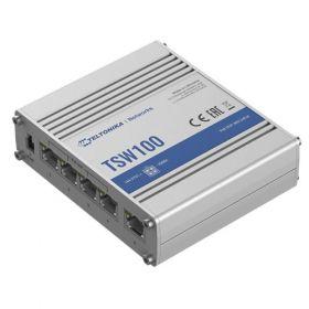 Teltonika TSW100 robust industrial grade PoE Gigabit Switch