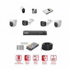CCTV 5MP Pro Series 4 Ch Bundle by NEXSYSUK
