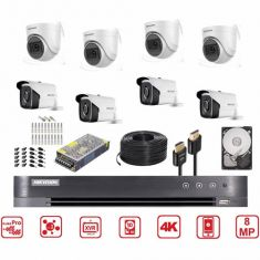 Hikvision 4K CCTV Camera Bundle 8 CH 8MP Bundle