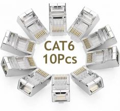 RJ45 CAT6 Connector - 8P8C Nikle plate Modular Plug 10PPcs