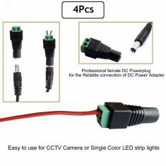 4Pcs DC Power Connector for CCTV Camera