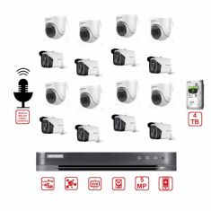 Hikvision CCTV Bundle 16CH DVR - 5MP Camera - Builtin Mic