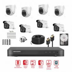 Hikvision 8CH 2MP 1080P Camera Bundle with 2TB Harddisk