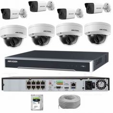 Hikvision 8 Channel PoE NVR & Cameras Bundle