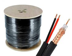 100% Copper - RG59 Coaxial + DC Cable Roll