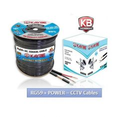 Kaybe 300M RG59 95% Copper CCTV Cable Coaxial + DC Cable Roll